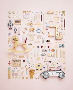I have become a BIG fan of Canadian Photographer, Todd McLellan, since I discovered him, particularly his deconstruction pieces such as the rocking horse shown below. He has recently brought out a… Things Organized Neatly, Foto Baby, Branding, Still Life Photography, Editorial Photography, Toys Photography, Kids Room, Creations, Childhood