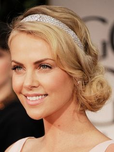 Charlize Theron's Up With a Headband Style