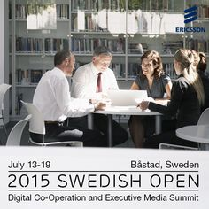 In connection with the 2015 #SwedishOpen, Ericsson will be hosting interactive discussions throughout the week on the rapid transformation within ICT, Cloud and TV & Media. Join us in Sweden as we explore how these changes have blurred the lines between information, processing and connectivity!