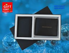 Gift set - Gents wallet and card holder gift set.     Ideal gift set for corporate gifts, event and exhibition gift, utility gifts, festival gifts, gift for his and her. very good gift box. You can print or engrave your logo or brand.     #gift   #giftwallet   #giftideas   #giftsforher   #corporate   #giftset   #box   #giftbox   #gifthamper   #logo   #brand   #branding   #engraving