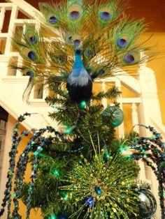 huge peacock tree toppers | Le Beau Paon Victorien: Christmas Theme Tree 2011: Peacocks!