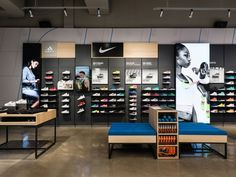 Finish line store by callisonrtkl, usa Shoe Store Design, Retail Store Design, Shop House Plans, Shop Plans, Design Blog, Layout Design, Visual Merchandising, Store Interiors, Retail Interior
