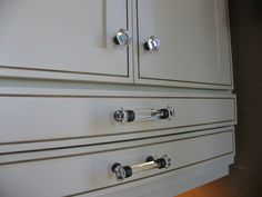 Glass knobs and handles