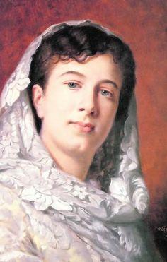 'Dama con mantilla blanca', de Wssel de Guimbarda.