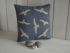 Seaside Seagull Cushion