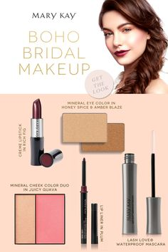 Set your spirit free with the perfect boho chic bridal look. Your dreamy night filled with twinkling lights won't be complete without some Creme Lipstick in Rich Fig. | Mary Kay
