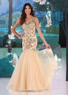 Free shipping, $131.87/Piece:buy wholesale Hot-in Sparkle Princess Illusion Bateau Mermaid Long Gold Satin Gold Tulle Heavy Gold Sequins Beaded Prom Evening Dresses 2014 from DHgate.com,get worldwide delivery and buyer protection service.