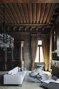 Aman Canal Grande Venice, a restored 16th-century palazzo complete with handmade Murano chandeliers; photo by Simon Watson