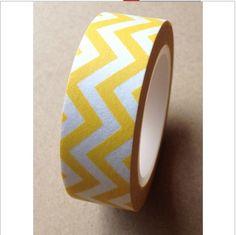 Masking tape (washi) - chevrons jaune : Embellissements par art-et-fantaisie