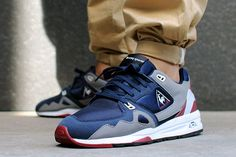 Our homies at Asphaltgold have just been hooked up with a bumper shipment of  Le Coq Sportif R1000 colourways. There's three in the pack to be exact, take your pick from navy/grey, deep teal/black and white grape options. Killer shapes, fresh textiles, cool colours = retro running at it's best. Asphaltgold here.