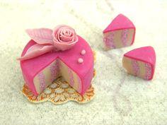 Miniature Rose Cake in Pink by ~vesssper on deviantART