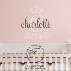 Items Similar To Nursery Name Decal Baby Wall Polka Dot Decor Bedroom Gn071
