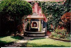Courtyard in Antigua Guatemala, Guatemala.