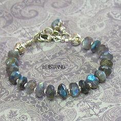 Labradorite Spectrolite Gemstone Sterling Silver Lotus by DJStrang, $72.00