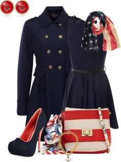 """""""Military flair # 6: Navy"""" by tchantx on Polyvore"""