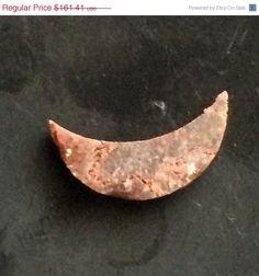 ON SALE 33% Brown Rough Diamond Brown Moon Shape by gemsforjewels