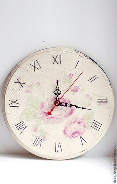 Часы для дома ручной работы. Ярмарка Мастеров - ручная работа Часы настенные (Шебби шик). Handmade.