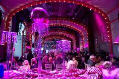 The preshow dinner reception was held inside BAM's Lepercq Space, which Fleurs Bella gussied up with a bedazzled, campy, Anna Nicole-worthy ...