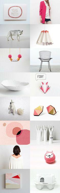 you are pretty by Barbara on Modern Minimalist, Home Deco, Gift Guide, Fashion Accessories, Coral, Pretty, Pink, Trends, Decor