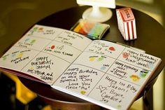 guest book first birthday finger prints One for each year with memories of the party written.