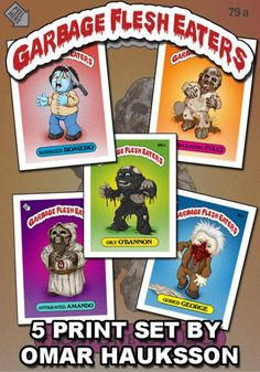 garbage flesh eaters | Meet the Garbage Flesh Eaters; Iconic Zombies Fused with Garbage Pail ...