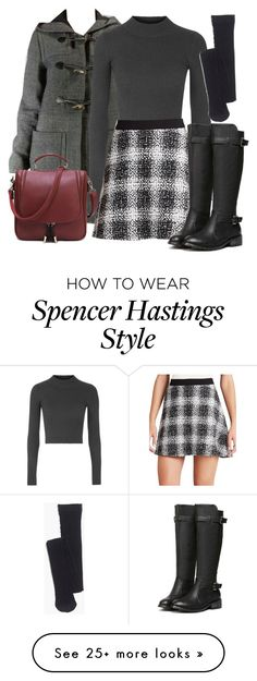 """Spencer Hastings inspired outfit with requested coat"" by liarsstyle on Polyvore featuring мода, Topshop, BCBGeneration, Madewell и WF"