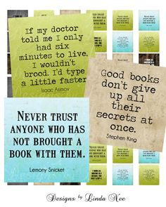 NEW- Famous Writer Quotes (.75 x .83 scrabble tile Inch) Images Buy 2 Get 1 Sale - Digital Collage Sheet scrapbooking Geek and Nerd