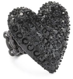 "Betsey Johnson ""Essentials"" Heart Stretch Ring"