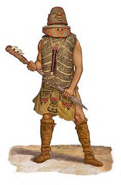 Tinglit warrior from the Northwest with his weapons