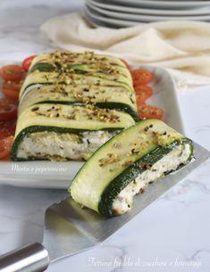 Terrina fredda di zucchine e formaggi (secondo piatto) #zucchine #formaggi #piattofreddo #piattounico #ricettaestiva