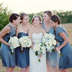 Blue Bridesmaid Look