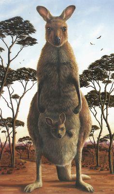 ♞ Artful Animals ♞ bird, dog, cat, fish, bunny and animal paintings - Robert Bissell - Macropus