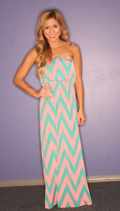 love the colors of this chevron dress