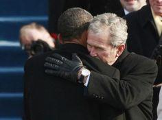 A Bush-Obama hug-fest.