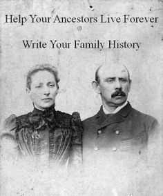 Write up stories about individuals ancestors.