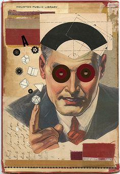 Hoodwink, 2011. Collage on book cover by Angelica Paez.
