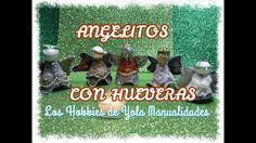 DIY Angelitos con carton de huevos-hueveras.Los hobbies de Yola