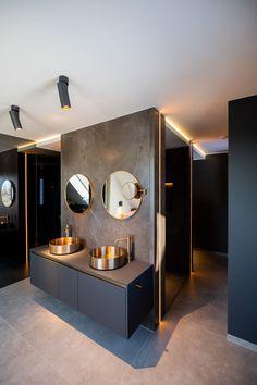 Mirage - Gessi - ProLicht Bathroom Lighting, Divider, Furniture, Home Decor, Guest Toilet, Marble, Full Bath, Homes, Bathroom Light Fittings