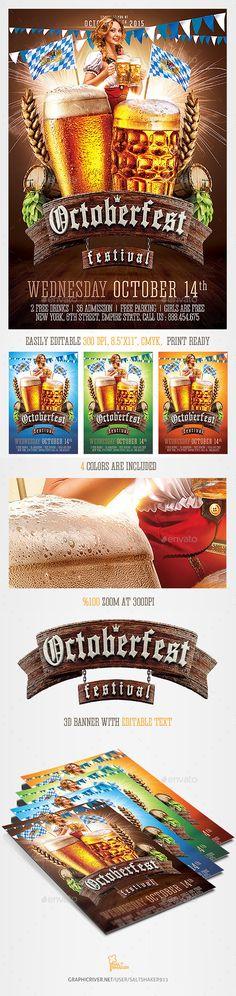 Oktoberfest Beer Festival Flyer Template - Clubs & Parties Events