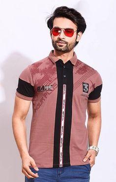 Polo T Shirts, Boys Shirts, Yellow Print, Black Print, Casual Wear For Men, Latest T Shirt, Types Of Fashion Styles, Printed Cotton, Trendy Fashion
