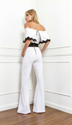 Skazi Jumpsuit Elegante, Estilo Real, Two Piece Outfit, Playsuit, Suits For Women, Flare Jeans, Casual Wear, Cute Outfits, Rompers