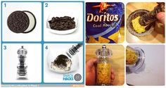 Use a Pepper Grinder to Make Powder Toppings. Add Oreo cookies (without the cream) into a pepper grinder—et voilà!—you have easy sprinkles for cupcakes, ice creams, and all things sweet. Same goes for Doritos or any other snack you feel like making into a topping.