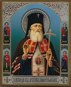 "Luke the Surgeon, Archbishop of Simferopol ( source ) ""Drink Holy Water, the more often, the better. It is the best and most ef. Chi Rho, Byzantine Icons, Imperial Russia, Art Icon, Religious Icons, Orthodox Icons, Roman Catholic, Christianity, Saints"