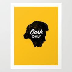 Cash Only (Gold) Art Print by Chad Gowey - $18.00