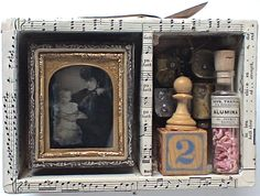 assemblage art by mike bennion - 'sugar plum'