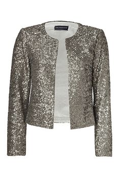 ZADIG & VOLTAIRE  Gold Allover Sequined Grissy Open Cardigan