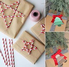 Hacks de Noël pailles et étiquettes trucs et raccourcis Noël
