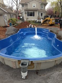100 Tons Of Clean Stone Backfill Process And Water Continue Find This Pin More On Fiberglass Pool Install