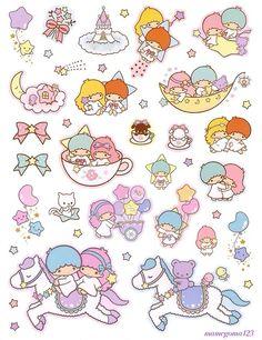 Little Twin Stars Print.