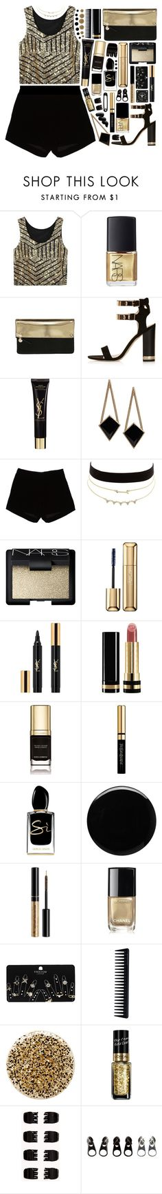 """""""Outfit 233"""" by holass ❤ liked on Polyvore featuring NARS Cosmetics, Clare V., Topshop, Yves Saint Laurent, ASOS, Andrew Gn, Charlotte Russe, Guerlain, Gucci and Dolce&Gabbana"""